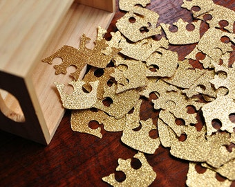 Royal Prince Baby Shower Decorations.  Handcrafted in 2-5 Business Days.  Crown Confetti 50CT.