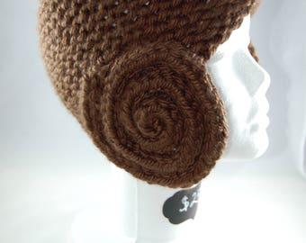 Knit Hat - Princess Leia Buns