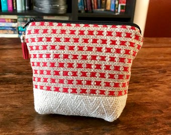 Padded Essential Oil Pouch- Upcycled Upholstery Fabric - Small