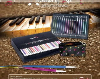 Zing knitting needle Christmas gift set, KnitPro / Knitters Pride Zing interchangeable knitting needles,  Melodies of Life.