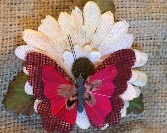 Spring pinup hair flower