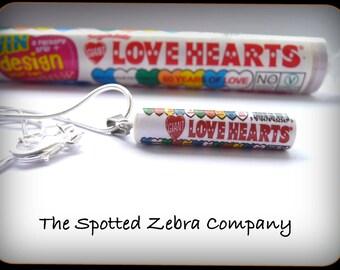 Love Hearts Tube Necklace