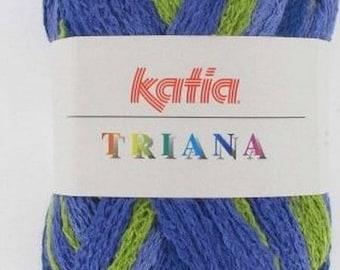 KATIA TRIANA 100GR //45 BLUE/GREEN/PURPLE WOOL