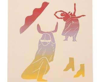 Dancers Silkscreen Print