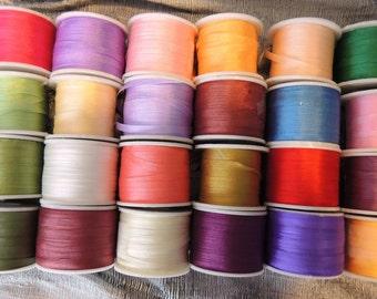 Silk Ribbon 4mm 120 yard selection 5 yards each color