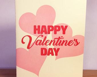 Happy Valentine's Day Letterpress Card