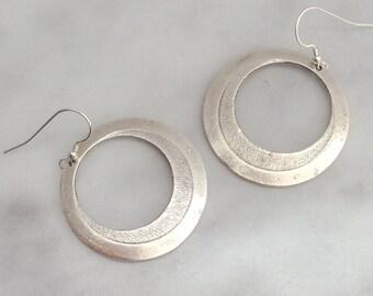 Oversized Silver Hoop Earrings