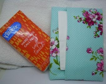 Tous les jours sac à main ou poche tissu housse - Inspirations WAVERLY fleur rose Print - le lieutenant Teal