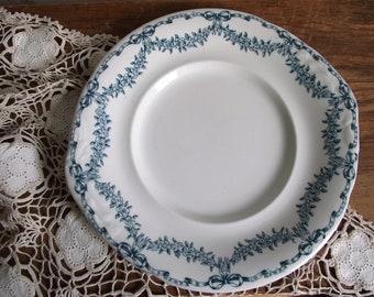 Losol Ware Underplate , Blue Transferware Plate , Selkrik Pattern by Keeling and Co. Ltd Burslem England , Cottage Chic Modern Farmhouse