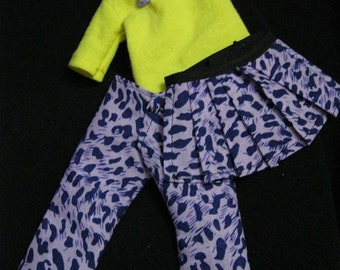 LTF/YOSD Purple Leopard 1/2 Skirt and Shirt Set CLEARANCE Price
