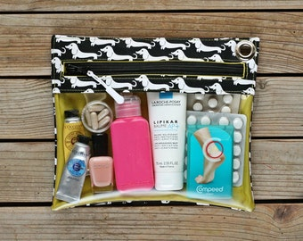 Clear vinyl travel pouch - Dogs