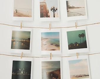 San Diego print set, mini prints, La Jolla, Coronado, Sunset Cliffs, beach photography, baby decor, girls room wall art, dorm art, gift set