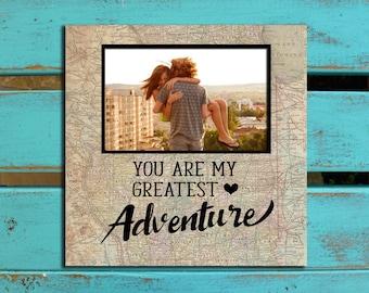 You're My Greatest Adventure, Husband Valentine's gift, girlfriend gift, PHOTO MAT, boyfriend gift, Wife valentines gift, Valentine's gift,
