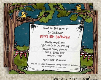 Movie Drive-In Birthday Party Invitations for Boy or Girl Birthday Movie Party Digital DIY Printable and Personalized - 105313813