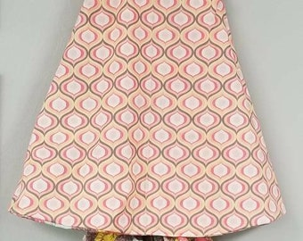Vintage Shabby Chic Reversible baby, toddler girls dress with matching Bloomers size