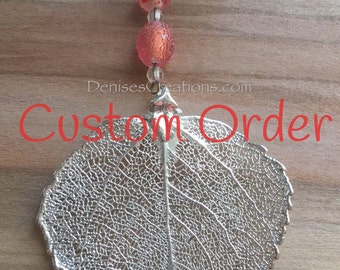 Custom Order an Electroplated Leaf Christmas Ornament by Denise Sloan