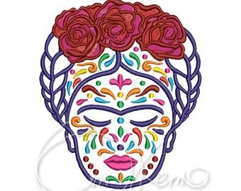 MACHINE EMBROIDERY DESIGN - Calavera Frida