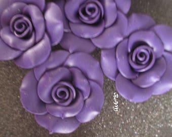 Beautiful 40 mm Eggplant flower cabochon