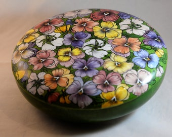 Floral Covered Dish, Porcelain Dish, Trinket Dish, Vintage Trinket Dish, Little Trinket Dish - Vintage Trinket Box - Covered Trinket Dish
