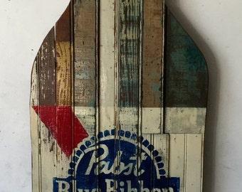 Custom Painted Reclaimed Wood Beer Bottles