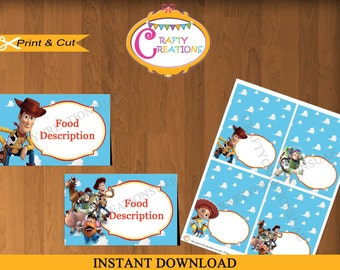 Toy Story  Food Tent Cards - Toy Story Food Labels- Toy Story Place cards- Buffet Labels-Printable Food Labels- Favor Tags- INSTANT DOWNLOAD