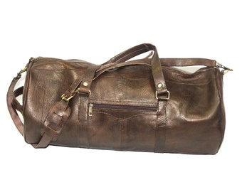 Premium Coco Leather XL Duffle Bag | Travel Bag | Voyager