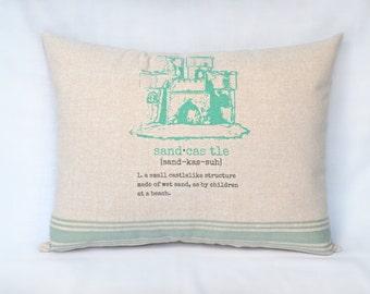 Sandcastle Pillow