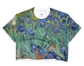 Vincent van Gogh, Irises - Ladies Crop Top