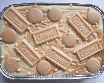 White Chocolate and Caramel Caramac Fudge Tray