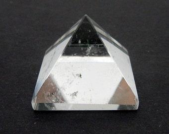 5 Pieces Crystal Quartz Pyramid -- Pyramid Shaped Crystal Quartz Stone - Reiki - Metaphysical - Crafting BULK OF 5 (RK188B8(5QTY))