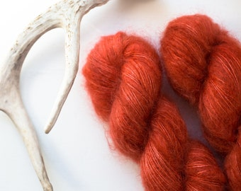 Strawberry Fields {Lace Weight) Ultrafine Kid Mohair and Silk Blend