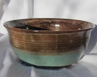 Large Earthy Glazed PoServing Bowl- Handmade Pottery