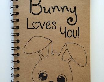 Easter, Some Bunny Loves You, Easter Gift, Easter Bunny,  Easter Basket Gift, Kids, Bunny, Bullet Journal,  Notebook, Journal, Sketchbook