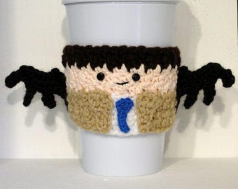Crocheted Castiel Supernatural Coffee Cup Cozy