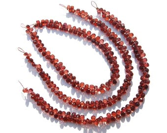 Excellent Quality AAA Mozambique Garnet Drops Faceted Beads, 2.50x3.50 to 3x5 mm, 18 cm, 105 pieces, GA-115/1, Semiprecious Stone
