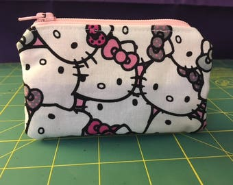 Hello Kitty Zip Pouch Coin Purse Pink