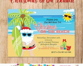 CHRISTMAS on the BEACH invitation - you print