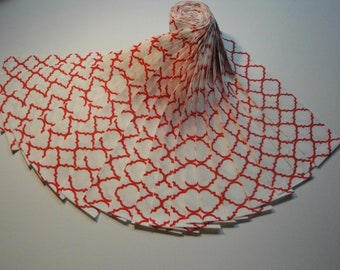 """Jelly Roll-""""Red & White Quatrefoil"""" by Choice Fabrics"""