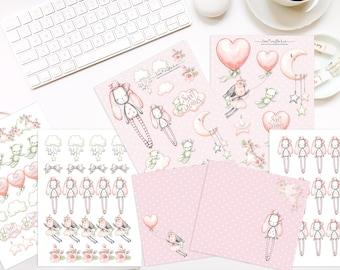 Sweet Bunny Sticker & Ephemera Paper Kit