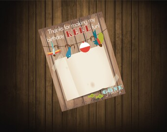 Fishing Theme Thank You Cards