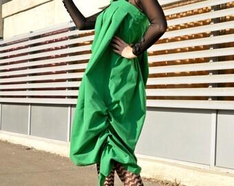 Green Jumper Dress TDK160, Green Loose Funky Dress