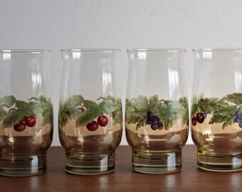 Set of 4 Libbey Tumblers/ Libbey Glassware/Dinner Glasses/Dinner Ware
