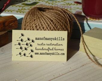 Dandelion Seedheads Custom Business Card Stamp