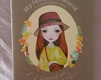 Flowers & beauty girl notebook