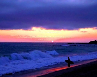 Sunset Skimboarder - 11x14 Fine Art Photographic Print - Signed by Artist