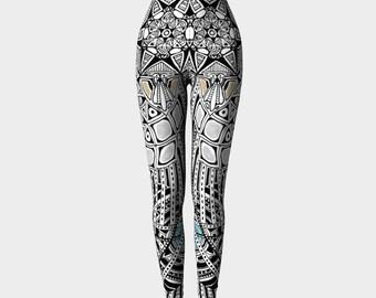 Leggings, Colorful leggings, Yoga pants, Mandala yoga pants, Womens Yoga Pants, Long Yoga Pants, Yoga Gear, Running Pants