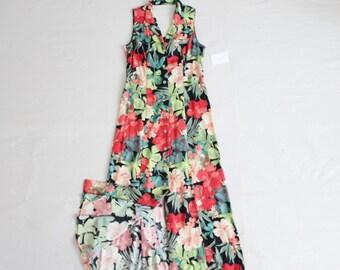 open back dress | 90s floral dress | vintage maxi dress
