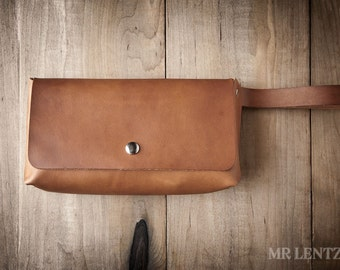 Leather Clutch, leather purse, brown leather clutch, simple purse 101
