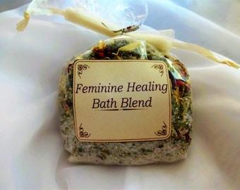 Feminine Healing Bath Blend  Vaginal Irritation, Yoni Bath Tea, Herbal Yoni Care, Feminine Health, Yoni Soother, Herbal Bath Blend