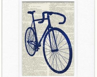 Blue Bike dictionary print